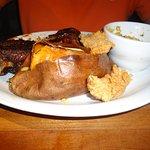Half rack Ribs - Chicken - Baked Sweet Potato - Broccoli Casserole