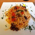 Le linguine con Spada, Olive e Pomodorini