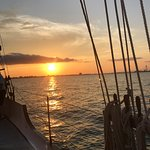 Sunset in Charleston Harbor
