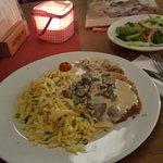 Schnitzel mit Pilzsoße