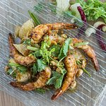 Pomelo Salad with Grilled Shrimps Yum.