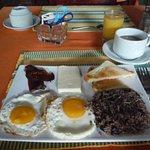 Tico typical breakfast. Delicious!