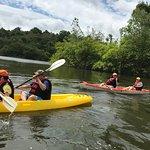 Kayaking in Thac Voi lake