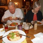 Fish stew, slow cooked beef and dumplings and local ales