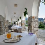 Terrace with stunning view of Lake Bled (323656311)