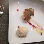 Arabic cheesecake with Baklava and Sesame Praline icecream