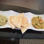 Pita Bread with Hummus and Baba Ghanoush