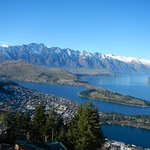 View of Queenstown from the summit.