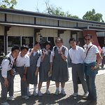 My faved photo of the trip, with some joyous japanese students!