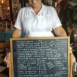 Great waitress & the menu