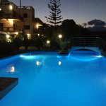 This is the pool at night