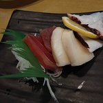 shiro maguro, maguro, tako sashimi