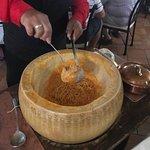 pasta being served