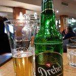 Great food. Pilsner beer.