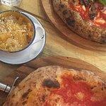 Margherita, Vulcano and Mac N Cheese
