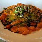 Spinach raviolis