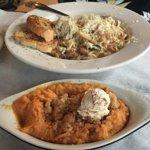 Seafood Pasta and sweet potato