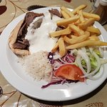 Lamb Donner Kebab meal