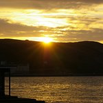 Sunset over the Great Orme from the Hotel Steps