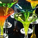 Hand blown martini goblets