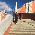 Чкаловская лестница, верхние ступени