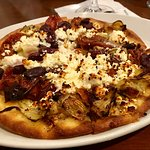 Savory Flatbread - Sundried tomatoes, kalamata olives, goat cheese