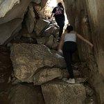 Climbing marble mountain