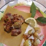 fritto misto dell'aia e patate al forno