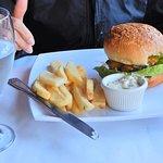 Cheeseburger and fries.