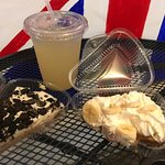 I also had a really good ginger limeade. The oreo pie on the left, and the banoffee on the right
