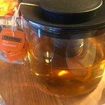 Peppermint tea bag in infuser. Should have been loose leaf tea as advertised