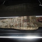 One of the mummy cases on display at the Royal BC Museum