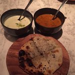 Mushroom Kulcha with dal and raita