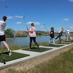 Test your skills at Splash Golf, can you land a hole in one?
