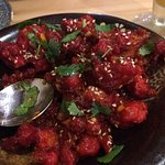 interesting spicy breaded cauliflower dish