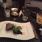 Steak for the main (rare)