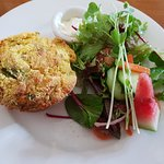 Delicious Savoury Muffin with a Salad