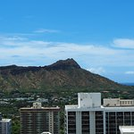 Diamond Head to the left note request high floors to see over the buildings next door.