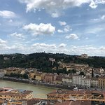 View of the Arno from top of tower