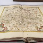Beautiful old map of northern Germany on display in the library