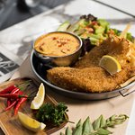 First in Singapore to introduce Fish & Chips with Tom Yum Salted Egg Sauce