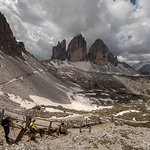 View of Tre Cime from Rifugio Locatelli
