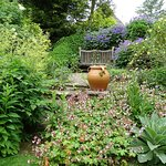 A tranquil spot at Bide A Wee cottage garden
