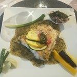 Lieu jaune et trio de riz