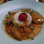 Polpo dish with rice.