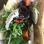 Roasted vegetable and goats cheese baguette - poor value and content