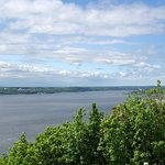 Looking upriver from the Plains of Abraham the next day