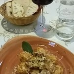 Local specialty ravioli with wild boar ragu