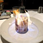 Baked Alaska table side at Truluck's Fort Lauderdale-Dean Myerow