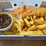 ok it's gravy not peas, but really had a craving for it but wanted fish too!